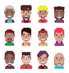 set 12 avatar icons 03 vector image