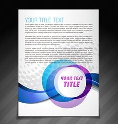 Simple flyer brochure design vector