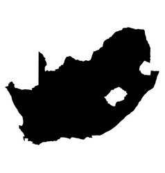 South africa island map silhouette vector