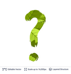 spring green bright leaves question sign vector image