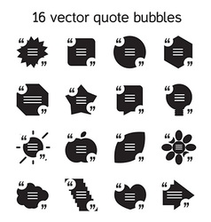 Square quote text bubbles set vector