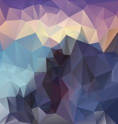 Sundown mountain polygon triangular pattern vector
