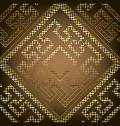 Textured geometric ornate gold greek seamless vector