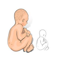 a newborn baby vector image vector image