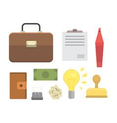 Creative office workplace modern vector