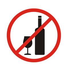 do not drink icon no drink sign isolated on white vector image vector image