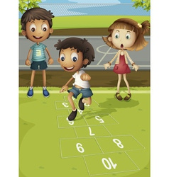 Hopscotch time vector image vector image