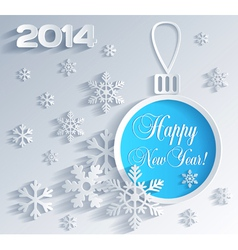 New Year card with Christmas ball decoration vector image vector image