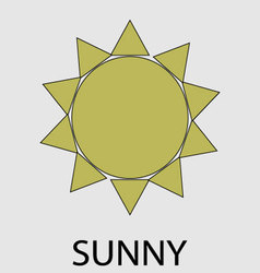 Sunny weather icon vector image