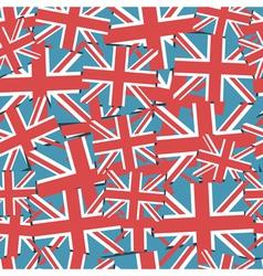 uk flag pattern vector image vector image