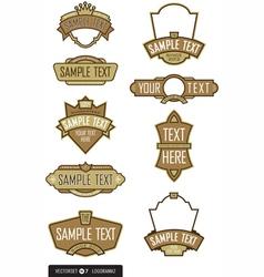 logo templates vector image vector image