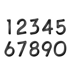 number collection isometric mathematical figures vector image