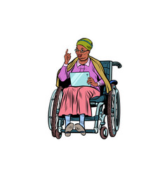 african elderly woman disabled person in a vector image vector image