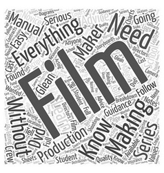 How Can I Learn Film Making Without Going To vector image vector image