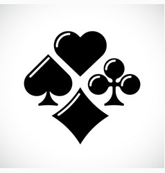 playing card suit icon set vector image