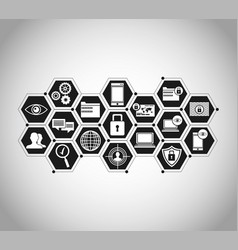 security system technology digital vector image