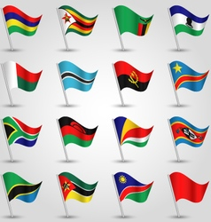 set of flags southern africa vector image vector image