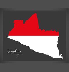 yogyakarta indonesia map with indonesian national vector image