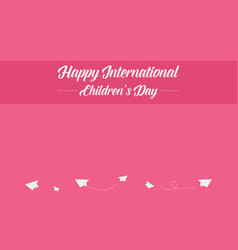 collection international children day style banner vector image