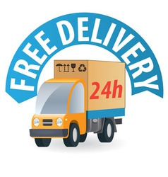 delivery truck3 vector image