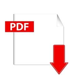 pdf download button vector image