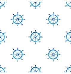 Watercolor steering wheel pattern vector image