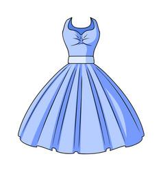 white fluffy wedding dress for a girl wedding vector image