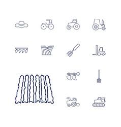 13 farmer icons vector