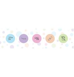 5 fuel icons vector