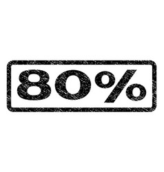 80 percent watermark stamp vector