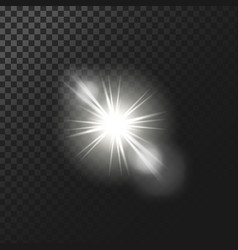 A white glowing light vector
