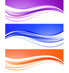 abstract elegant light waves collection vector image