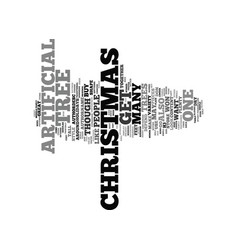 Artificial christmas trees text background word vector