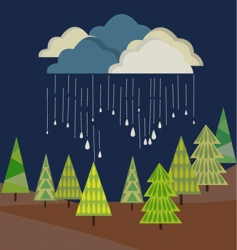 autumn rain from cloud vector image