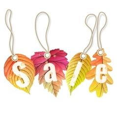 Autumn sale tags EPS 10 vector image