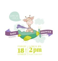 bagiraffe shower card - with place for text vector image