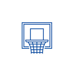 basketball hoop line icon concept basketball hoop vector image