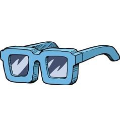 Blue sunglasses vector