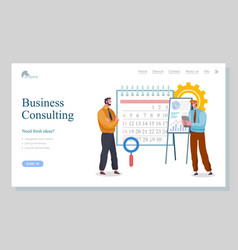 business consulting presentation ideas vector image