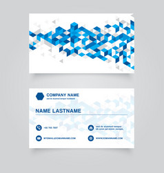 business namecard abstract blue geometric vector image