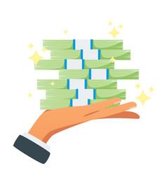 businessman hand holding money vector image
