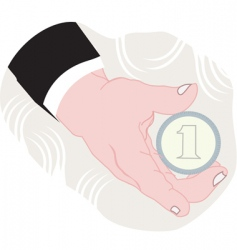 cartoon hand vector image