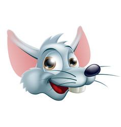 cartoon rat face vector image