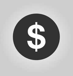 coin with dollar sign simple icon on white vector image