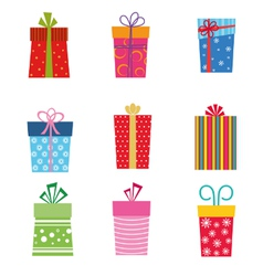 collection gifts vector image