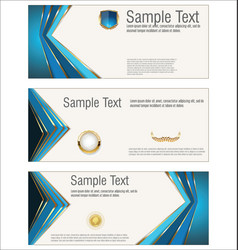 collection horizontal banners templates vector image
