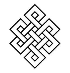 Cultural symbol buddhism endless knot vector
