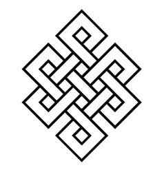 Cultural symbol of buddhism endless knot vector