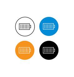 Design profile icon battery vector