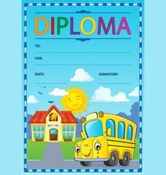 Diploma design image 1 vector
